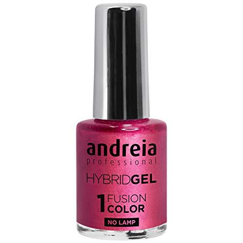 Andreia professionele hybride gel nagellak - 2 stappen en geen lamp nodig Langdurige en eenvoudige verwijdering - Fusion Color H51 Pink  Tinten metallic rood