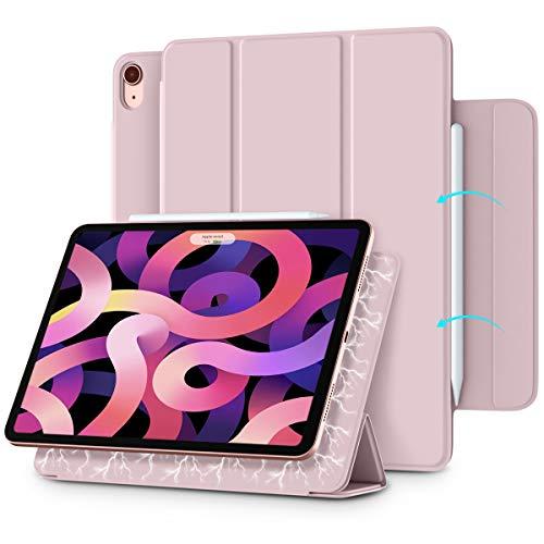 Vobafe Magnetische Hülle Kompatibel mit iPad Air 4.Generation 10.9 Zoll 2020/iPad Pro 11 2018, Trifold Hülle Magnet Schutzhülle Unterstützt 2. Gen iPencil Aufladen, Auto Schlafen/Wachen-Rosa