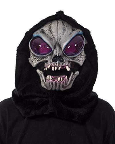 Zagone Studios Super Space Creature - Máscara extraterrestre metálica