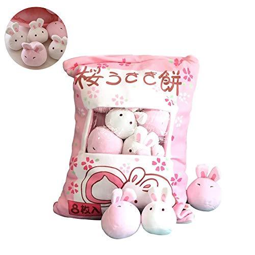 TOPFAY 1Bag Plüsch Mini Dolls Pudding Plüschtiere Simulation Innovative Snacks Puppe-weiches Sofa-Kissen für Hauptdekoration (Hase)