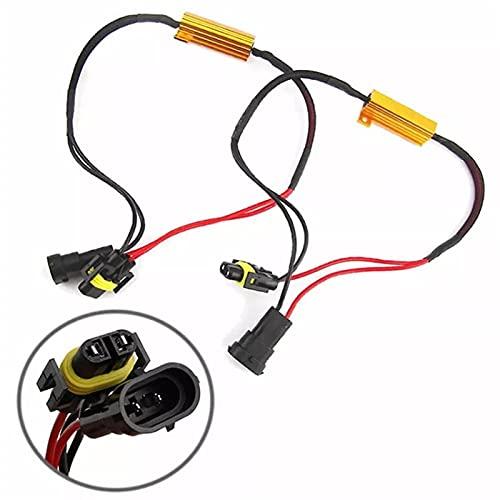 WSCHENG 2 PCS H11 / H8 Luces de Niebla Decoder LED Lámparas antiniebla Línea de Resistencia LED Dorado Resistencia Fija Niebla Luz de Lavado ARBIOS Decodificadores (Color : 2PCS)