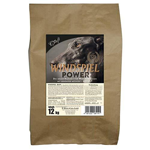 seit 1893 Bubeck Hundefutter | Windspiel Power | Trockenfutter mit Lammfleisch & Weizenmehl | Single Protein | für Windhunde (12 Kg)