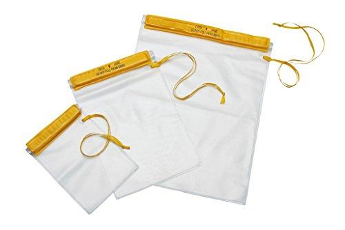 Ferrino 78331v Beutel aus Kunststoff, wasserdicht, mit Kordel, Unisex für Erwachsene, 78331V, gelb, 22x17 cm