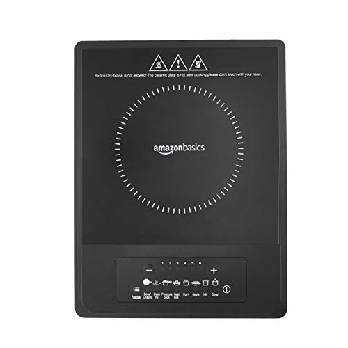 Amazonbasics Induction Cooktop 1300 Watts - Black