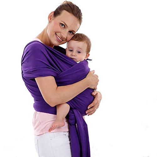 MissChild Portador de Bebé Cómodo Fular Portabebés Elástico para hombre y mujer