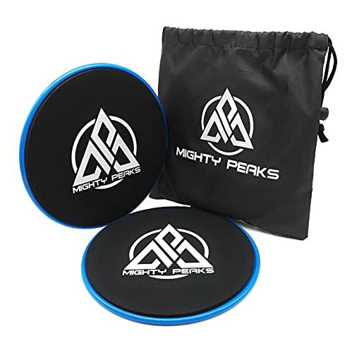 Core Sliders Gliding Disc Gleitscheiben Fitness, Blau, Calisthenics, CrossFit, HIIT, Bauch-Trainer, Yoga Pilates, Bauchmuskel-Trainer auf Teppich, Parkett, Fitness-Matte, Yoga-Matte oder Sport-Matte