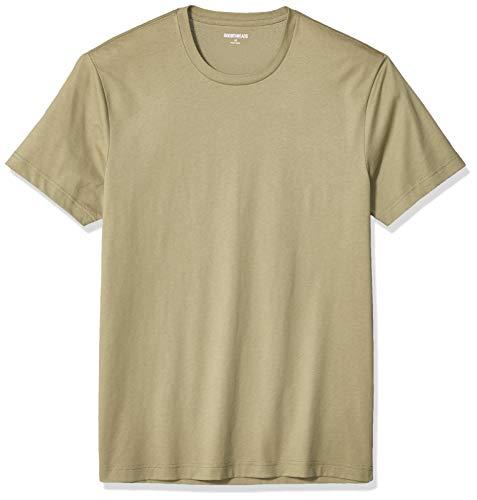 Amazon Brand - Goodthreads Men's Slim-Fit Short-Sleeve Crewneck Cotton T-Shirt, Fatigue X-Large