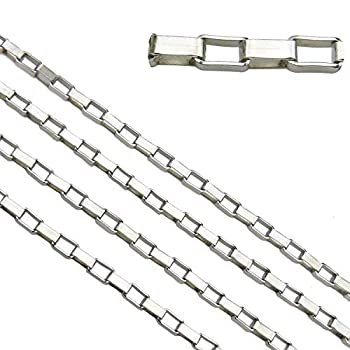 33ft Stainless Steel Box Chains Findings Fit for Jewelry Making &DIY  SC-1016-A