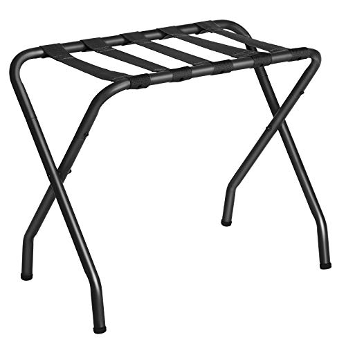 SONGMICS Metal Folding Luggage Rack Black URLR64B