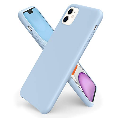 ORNARTO iPhone 11 Silikon Case, Hülle Ultra Dünne Flüssig Silikon Handyhülle Schutz für Apple iPhone 11 (2019) 6,1 Zoll -Hellblau