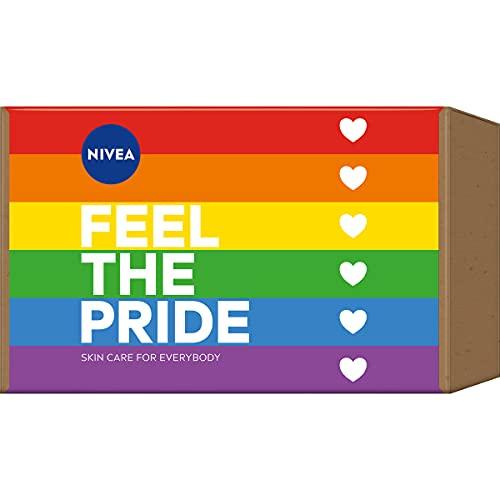 NIVEA Feel The Pride Set, Geschenkset für farbenfrohe Pflegemomente, verwöhnendes Pflegeset mit Peeling, Pflegedusche und Creme