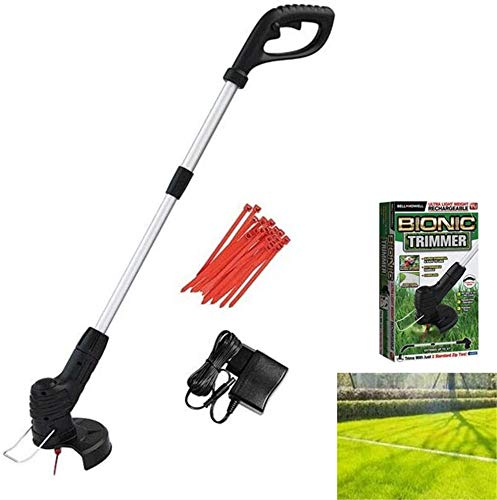 Hand Held Grass Trimmer, Retractable Cordless Lawnmower Electric Grass Cutter Lawn Mower Best for Garden Lawn
