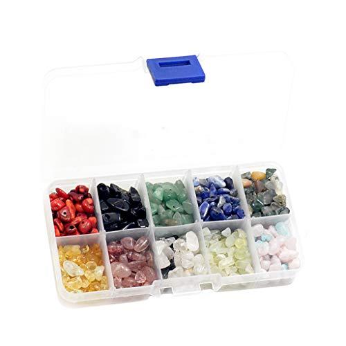 Milageto Chips de Piedra Natural, Cuentas Sueltas para Pendientes, Collar, Pulsera, Fabricación de Joyas