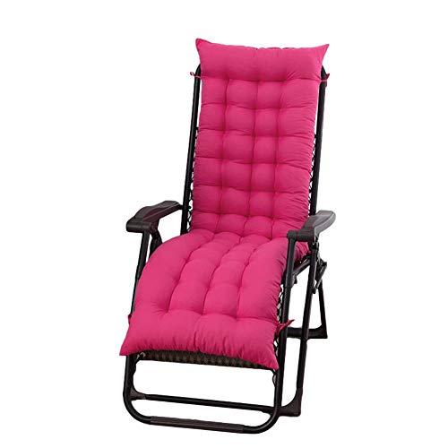 N/Y - Cojín para tumbona, respaldo alto, cojín para silla grande, suave y relajante extraíble, cojín largo para banco de jardín o patio, #3, 125*48*8cm