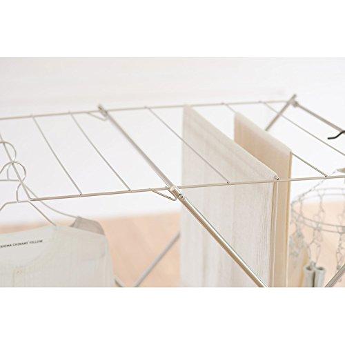 ワンピースも掛けられるステンレス製室内物干し(日本製/大木製作所)756004