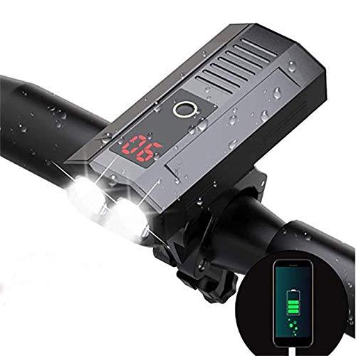 Pvnoocy Fahrrad-Scheinwerfer, USB wiederaufladbar, 1000 Lumen, LED-Fahrrad-Frontlicht, hohe Helligkeit, 6 Stunden Rennradfahren, Taschenlampe mit 5 Modi, wasserdichtes Fahrradlicht