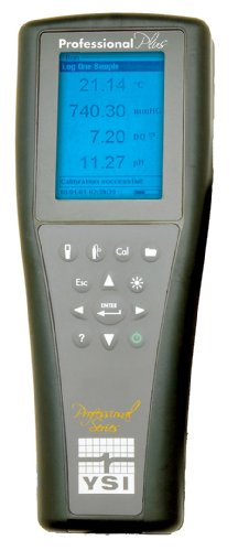 YSI 6050000 Professional Plus Handheld Multiparameter Meter, 0 to 200 mS/cm, 0.001 mS/cm Resolution, +/- 0.5 Percent mS/cm Accuracy