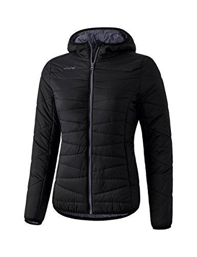 Erima dames gewatteerde jas met zijzakken met ritssluiting en verwarmende capuchon, van polyamide