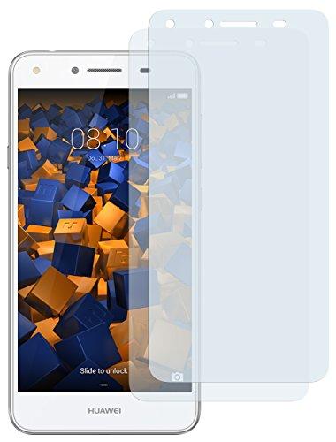 mumbi Schutzfolie kompatibel mit Huawei Y6 II compact Folie klar, Displayschutzfolie (2x)