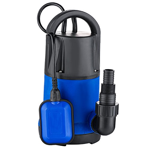 Submersible Water Pump Sump with Float Switch Portable Clean/Dirty (1HP blue)