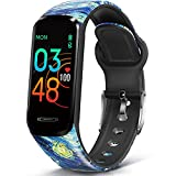 MorePro Slim Fitness Tracker with Multiple Sport Modes, Body Temperature DIY Screen Smart Watch with Heart Rate Blood Pressure Sleep Monitor, IP68 Waterproof Pedometer for Women Kids