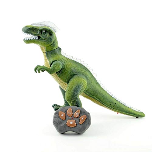 BARGAINS-GALORE RADIO REMOTE CONTROLLED T-REX TOY ROBOT SOUND GAME XMAS...