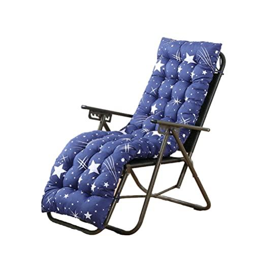 Werlinke, cuscino per sedia da interni ed esterni, per sedie a sdraio, reclinabili, per sedie a sdraio, divano, trapuntato, in rattan, pieghevole, senza sedia, 110 x 53 cm