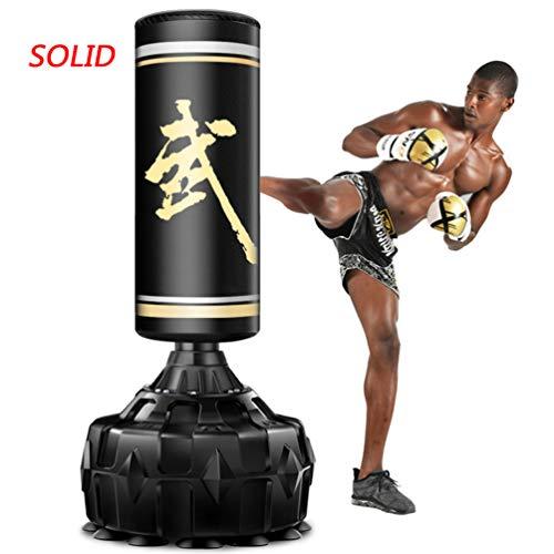 BBQQ Stand-up Solid Adult Box Boxsack, Saugnapf Basis Box Boxsack, Stoßdämpfende Feder Rebound Fast, Für Taekwondo Karate Boxen Muay Thai, 69 Zoll