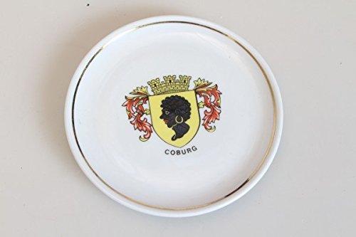 Original Vintage 70er Kleiner Teller Untersetzer Porzellan Bemalt Coburg Wappen