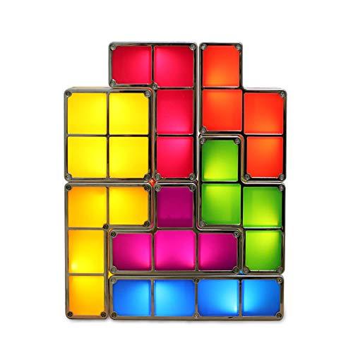 Cozy Vibe Tetris Lampe stapelbar led tischleuchte Stimmung licht Dekoration nachtlicht, super hell, Sieht toll aus, wie Sein kann graet spaß für Kinder