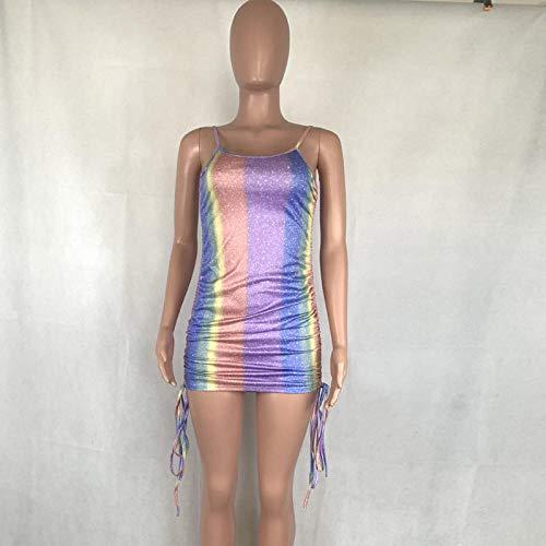 Vestidos De Fiesta Vestir Dress Mujer Niña Sexy Bow Patchwork Ruched Mini Dress Women Sleeveless Strap Skinny Clubwear Party Night Gown