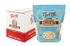 WHOLE GRAIN GOODNESS: Organic Extra Thick Rolled Oats (and we mean nice and extra thick!) are toasted and freshly milled from the highest quality organic oats GOOD SOURCE OF FIBER: One serving provides 14% of your daily value ORGANIC: Certified Organ...