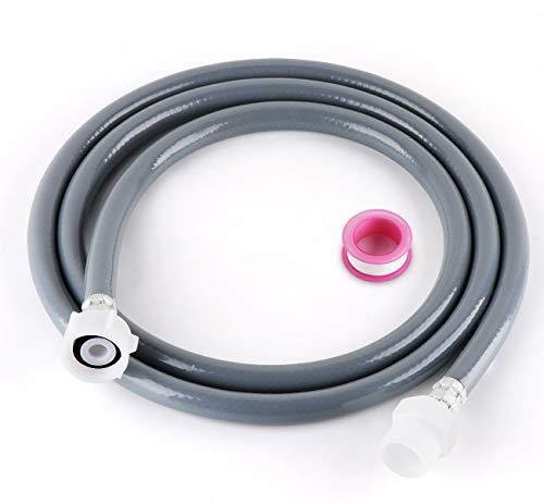 ilauke 2,5 m Zulaufschlauch Verlängerung, für Wasch- und Spülmaschinenschlauch, Kaltwasser-Zulaufschlauch mit 6M PTFE-Band, 3/4 Zoll