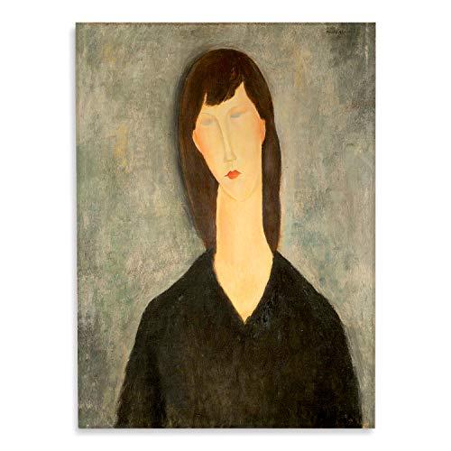 Giallobus - Schilderij - Amedeo Modigliani - Borstbeeld van een vrouw - bedrukking op plexiglas acryl - klaar om op te hangen - Diverse formaten - 50x70 cm