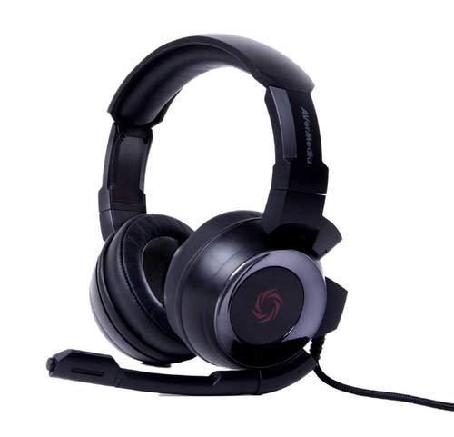 AVerMedia SonicWave USB 7.1 Gaming Headset für PC, Xbox One, PS4, Nintendo Switch (GH337) (Schwarz)