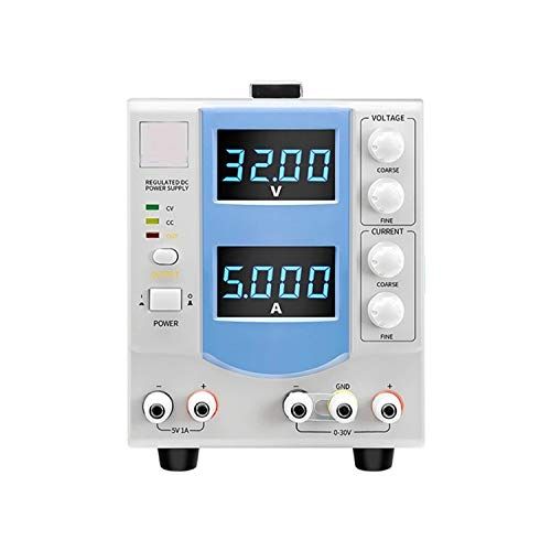 Fuente de alimentación regulada por CC ajustable Pantalla de cuatro dígitos Fuente de alimentación regulada lineal MCH-305DB DISEÑO HUMANO,USO AMPLIO (Size : 110V)