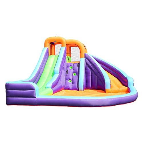 GHH Castillo Hinchable tobogán de Agua Inflable y Piscina para niños para jardín - Deslizadores acuáticos Tejido Oxford, Color,420x365x225 cm