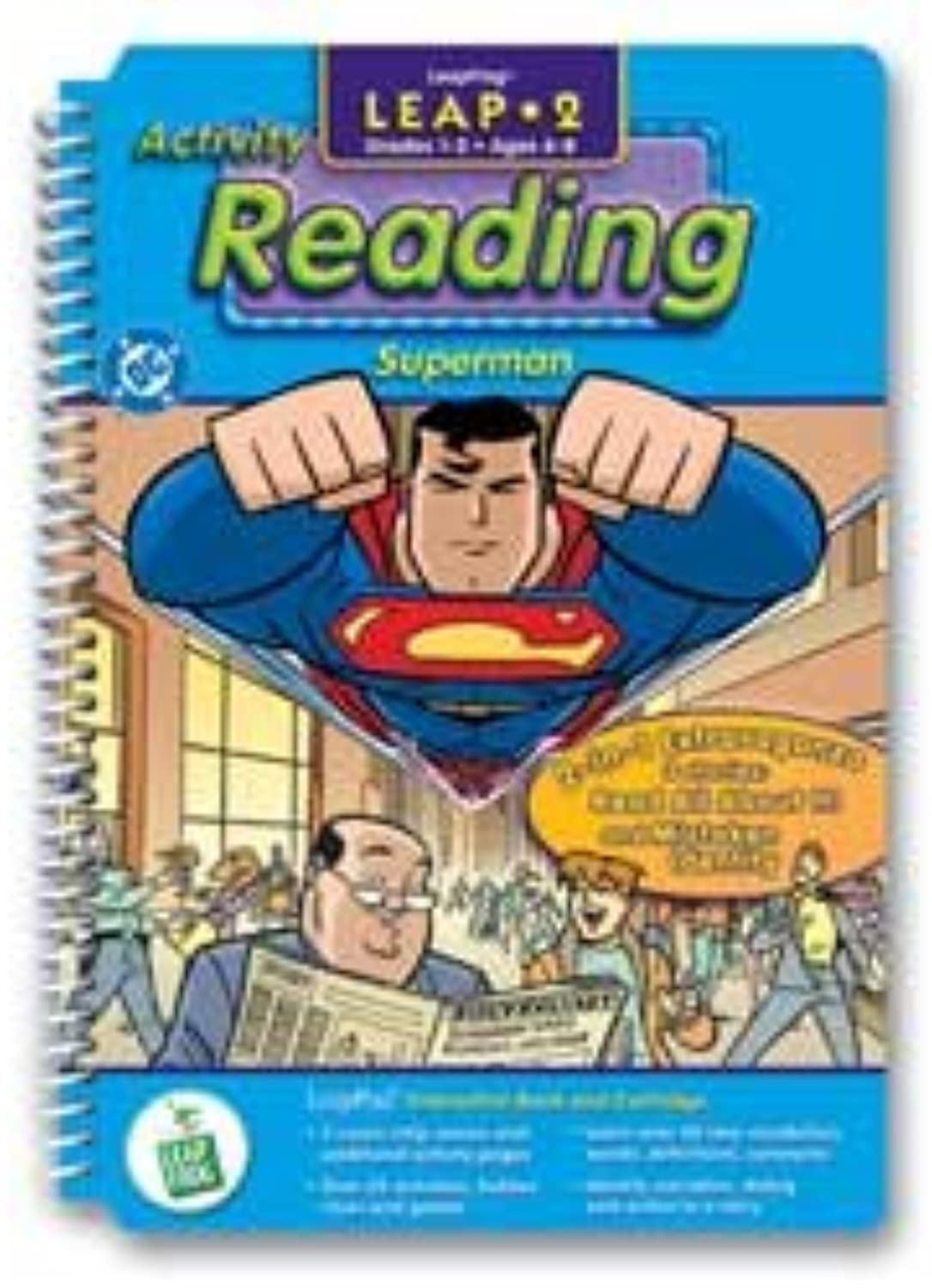LeapFrog LeapPad  Leap 2 Reading   Superman  Interactive Book and Cartridge