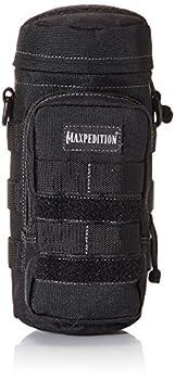 Maxpedition Hard-Use Gear 9006295-SSI Porte-Gourde Mixte, Noir, 10 x 4-inch