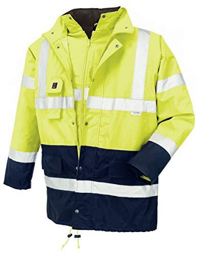 teXXor 4112 Warnschutz-Parka Calgary wasserdichte, winddichte Arbeitsjacke gelb S, XL
