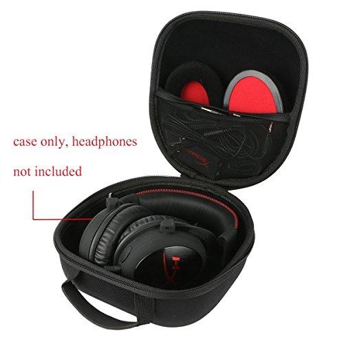Khanka EVA Hart Reise Tragetasche Tasche Für HyperX Cloud II Gaming Kopfhörer Game Headset Headphones. Mesh Pocket Für Zubehör.