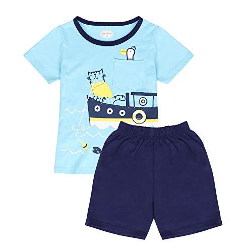 WonderBabe Ropa de bebé recién nacido, sin mangas, cuello redondo, impresión de letras, camiseta + pantalones cortos con estampado de tiburón, 2 piezas