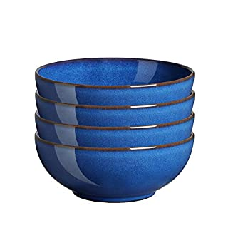 Denby Imperial Set of 4 Coupe Cereal Bowl Set, One size, cobalt blue (B07SW1675K) | Amazon price tracker / tracking, Amazon price history charts, Amazon price watches, Amazon price drop alerts