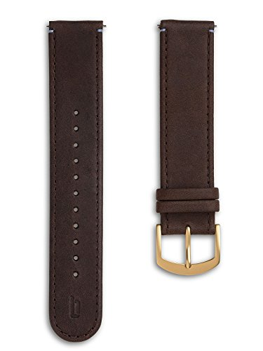 Lilienthal Berlin - Made in Germany – Wechselarmband, vegetabil gegerbtes Leder L1 (Farbe: braun / Schließe: gold)