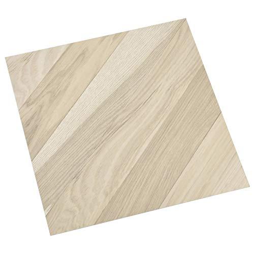 vidaXL 55x PVC-Fliesen Selbstklebend Vinyl-Fliesen Bodenbelag Vinylboden Laminat Dielen Fußboden Laminatboden Fliese Wohnzimmer 5,11m² Beige Gestreift