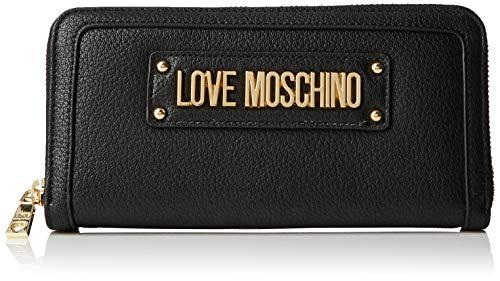 Love Moschino Damen Grain Pu Geldbeutel, Schwarz (Nero), 15x10x15 Centimeters