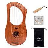 Aklot Grabado Arpa de lira, 7 cuerdas de metal para sillín...