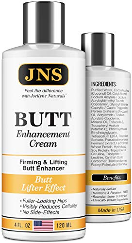 Butt Enhancement Cream - Powerful Butt Enlargement Cream - Made in USA - Firming & Lifting Effect - Hip Lift Up Formula for Fuller Bigger Butt - Natural Buttock Enhancement without Butt Injections