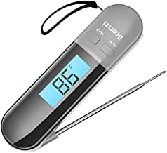 Meat Thermometer for Cooking Food Thermometer Digital Instant Read Kitchen Cooking Thermometer with Backlight LCD for Grilling/BBQ/Baking/Candy/Liquids/Oil(Grey)