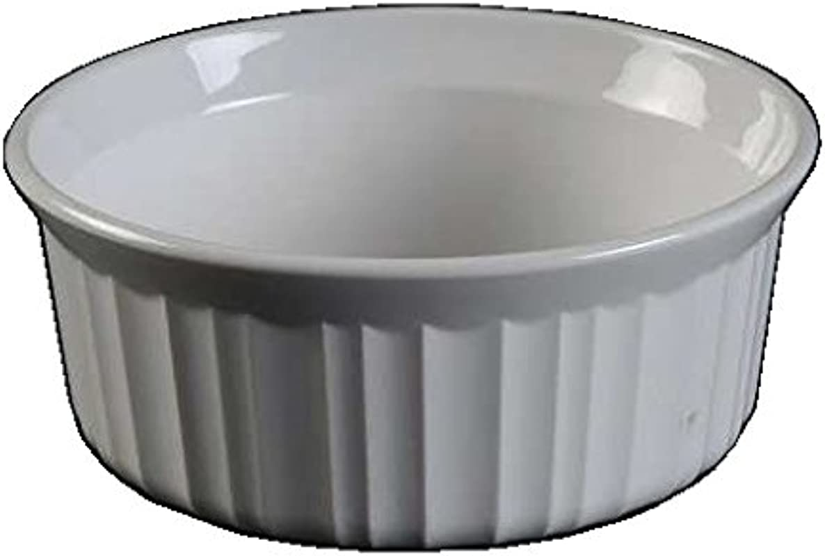 Corning Ware French White Individual Casserole No Lid 16 Oz 5 1 2 Dia F 16 B